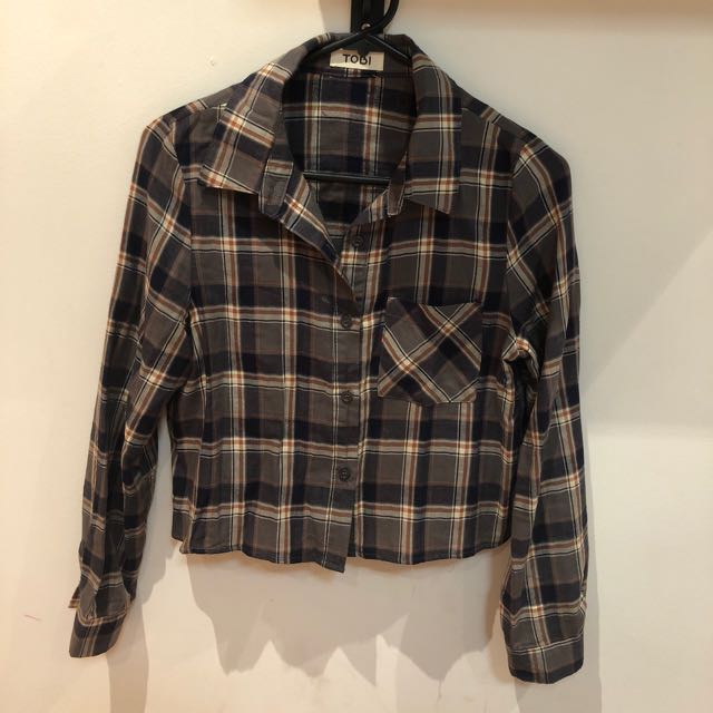 TOBI CROPPED FLANNEL