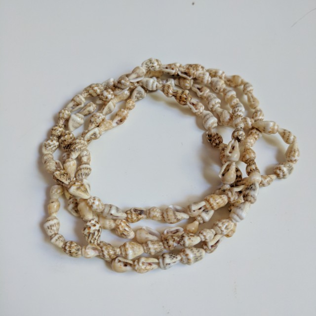 Tropical Long Shell Necklace or Wrap Around your wrist as a Bracelet