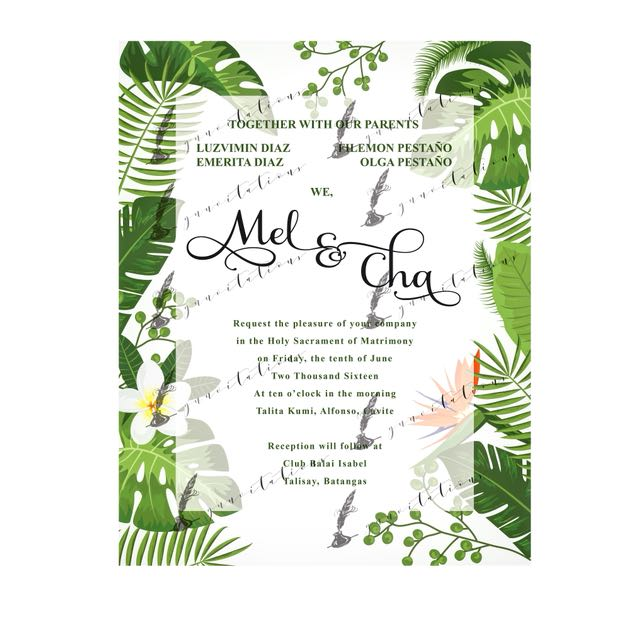 Tropical Themed Invitations On Carousell