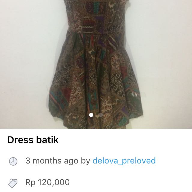 *Turun harga dress batik