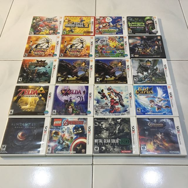 Used 3DS games from RM40!!