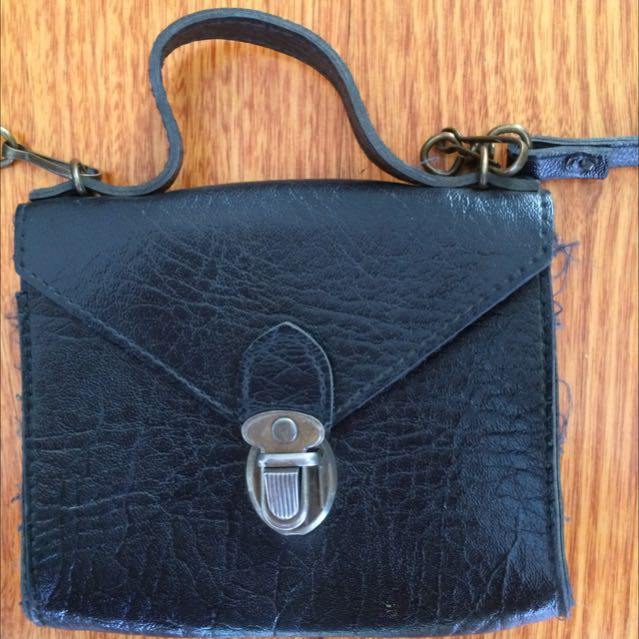 Vintage Black Bag - Small