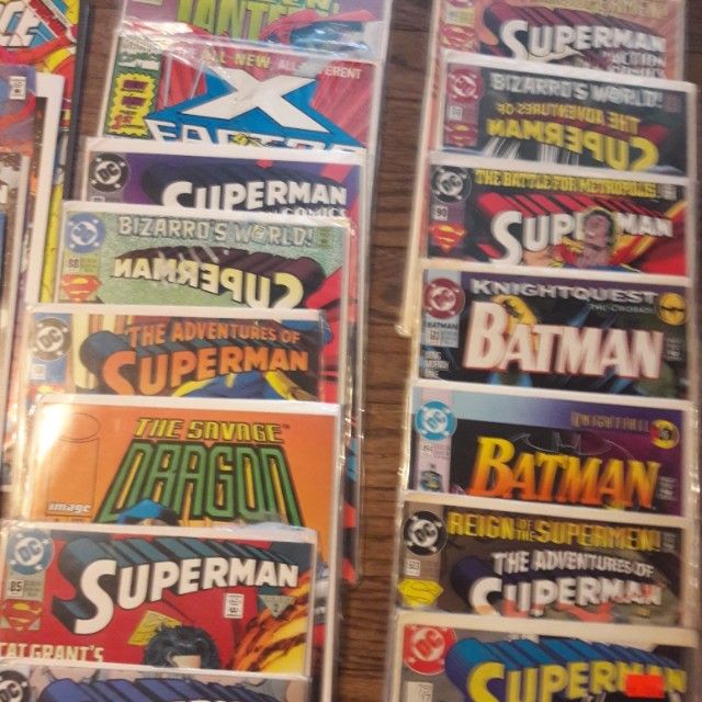Vintage superhero comic books, 1982, all protected, make offer, about 100 comics