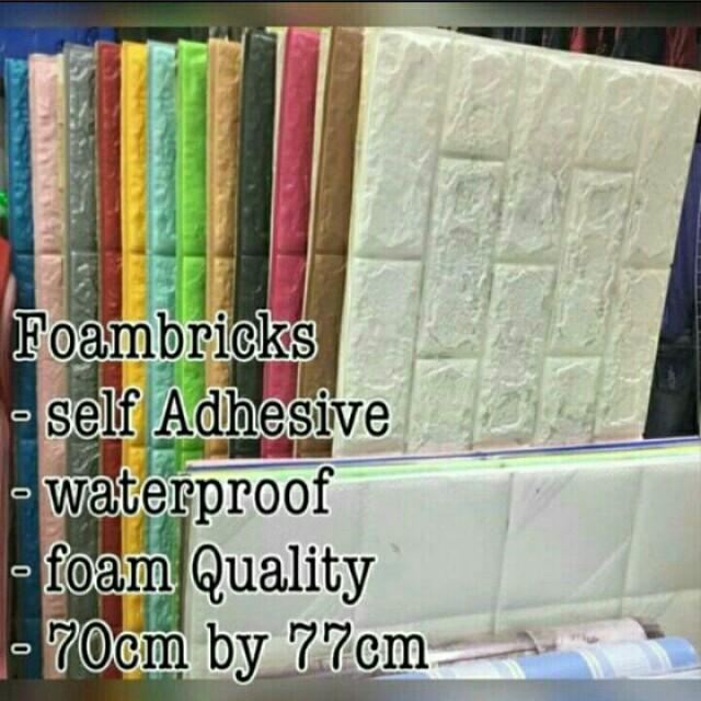 Wallpaper Foam Bricks