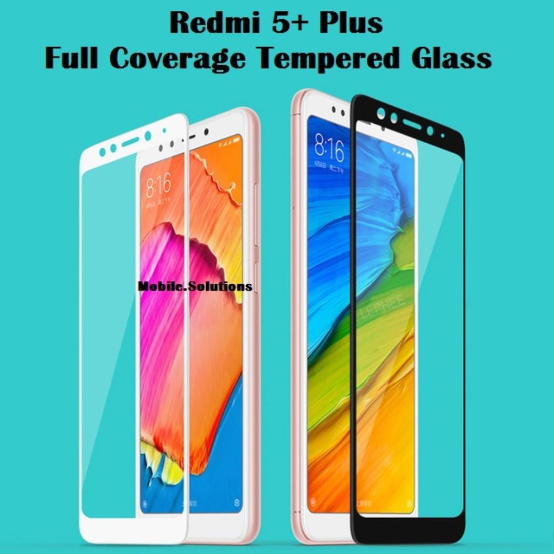 XiaoMi Redmi 5+ Plus ★ Full Coverage Tempered Glass Screen