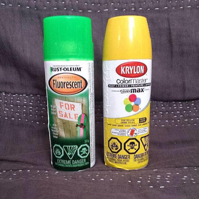 Yellow And Green Spray Paint Bundle