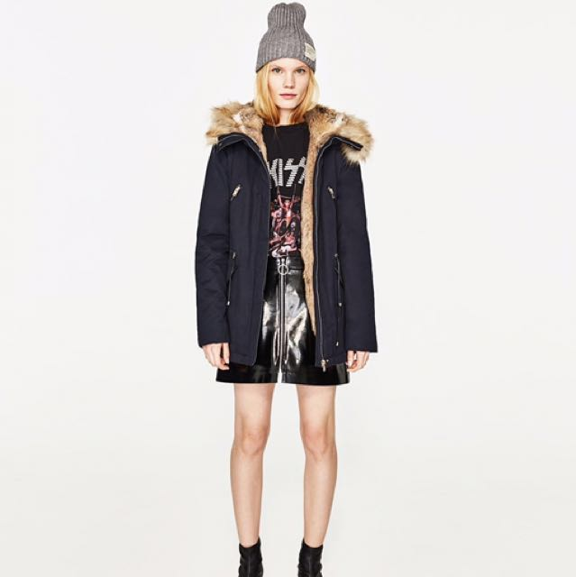 4f629ddb Zara Winter Coat Parka (from France) , Women's Fashion, Clothes, Outerwear  on Carousell