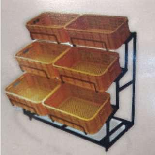 Vege Rack C/W 6 Basket