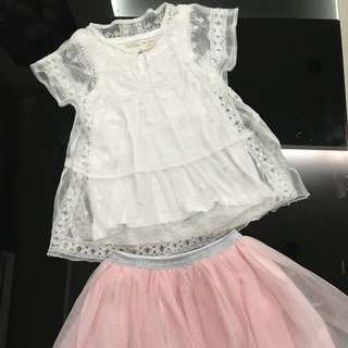 Girl Zara Top & Tutu