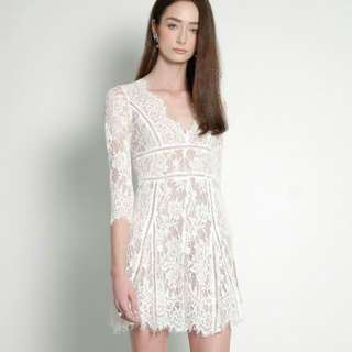 HVV Interlace Dress (White) Size M