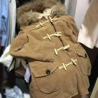 萬年長興款日本購入🇯🇵漁夫褸外套 擋風保暖coat牛角鈕扣