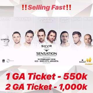 Sensation Tickets