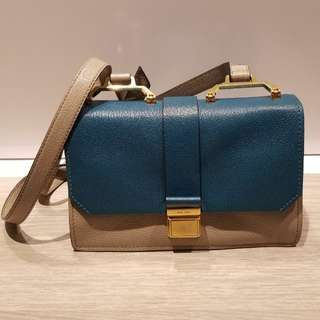 Miu Miu Bi-colour Madras Handbag 雙色羊皮手袋