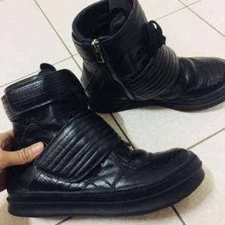 Jeffrey Campbell 高筒 真皮 球鞋 暗黑