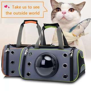 Capsule Astronaut Pet Carrier Cat Backpack & Small Dog Carrier Space Capsule Astronaut Pet Cat Carrier Backpack Bubble Window for Kitty Puppy Small Dog Outdoor Breathable Travel Bag Case-in Dog Carriers