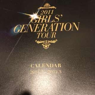少女時代巡迴演唱會寫真集+大型掛曆(送扇子、多款小卡)