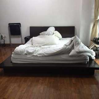 Queen Sized Wooden Zen Bed Frame