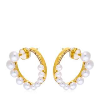 APM Monaco Gold Earrings w/ Pearls