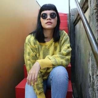 Sweater vintage kuning (oversized)