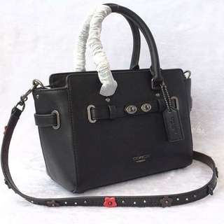 COACH Mini Black 21 Redefined Leather Carryall