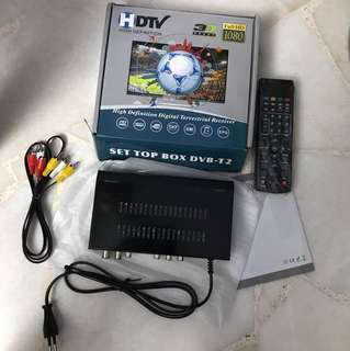 HDTV set TOP box dvb-t2. . For analogy tv without digital ready