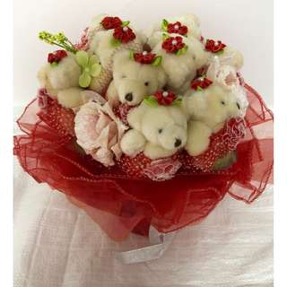 9 Bears Plush Bouquet