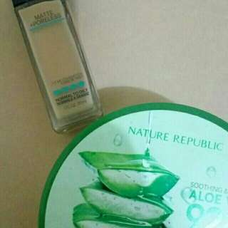 MAYBELLINE FIT ME AND NATURE REPUBLIC ALOE VERA GEL BUNDLE