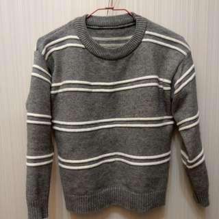[二手]親膚條紋毛衣