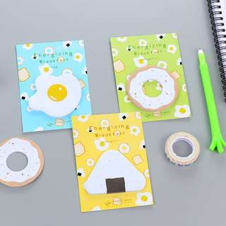 Sticky Note / Memo Pad / Post it Energizing Breakfast [SN03]