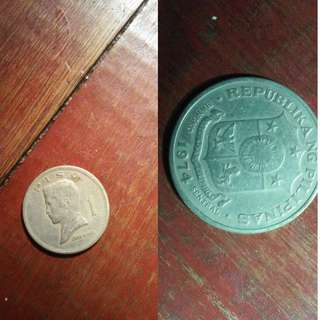 old one peso coin jose ruzal 1974