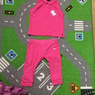 Poney Basic Sleeveless Shirt and Pants