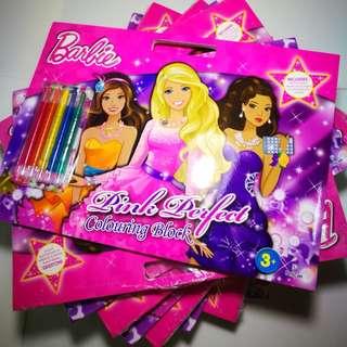 *BULK ORDER*Barbie colouring book Mattel Pelican
