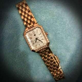 Samantha Tiara日本正版玫瑰金白珍珠母錶面女裝手錶