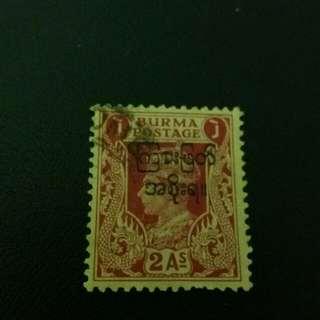 緬甸 郵票 加概