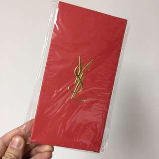 全新YSL 紅色暗花利是封 2018限量新款 紅封包  (10個)