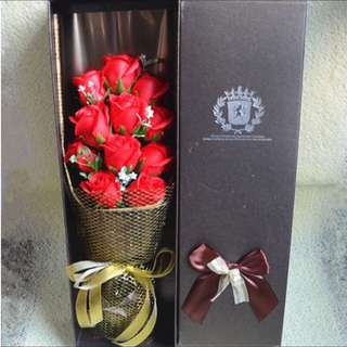 Lovely Red Rose Soap Flower Bouquet