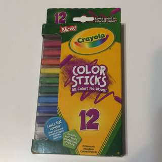 Crayola ~ 12 Nontoxic Woodless colored pencil