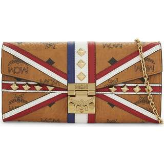 $4100 MCMUnion Jack leather wallet Valentine's Day Chinese New Year,birthday,Anniversary gift  情人節新年生日週年禮物 包郵 included local postage