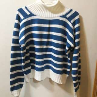 條紋針織毛衣