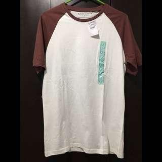 CREW Contrast Raglan T-Shirt (Off White)