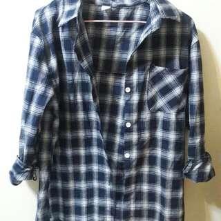 格子襯衫(深藍)