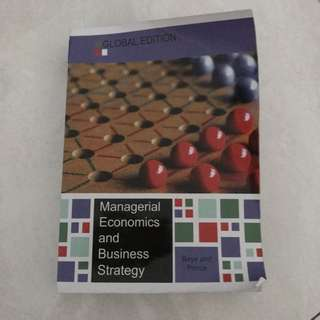 Managerial Economics And Business Strategy Baye Global Edition Mcgraw