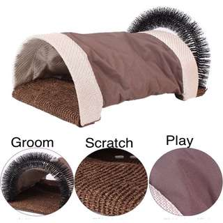 (NEW!)$40 cat rattle tunnel bed scratch groom