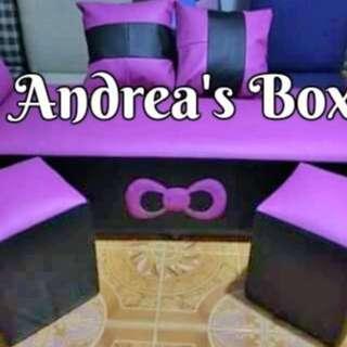 Violet sofa set