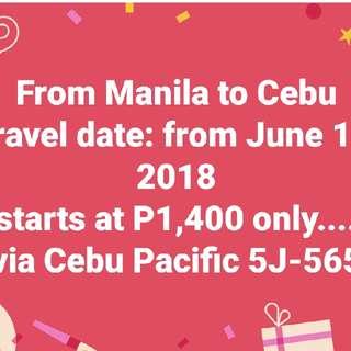 Manila to Cebu (1way)