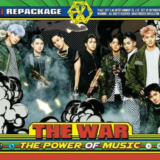EXO THE WAR REPACKAGE POSTER