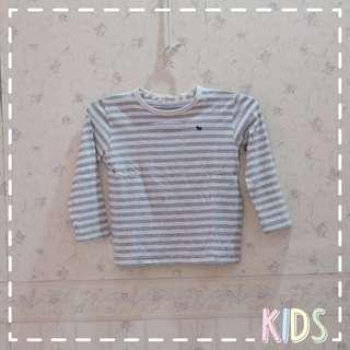 👕Giordano Long Sleeves Stripe Top | Atasan Lengan Panjang Bergaris