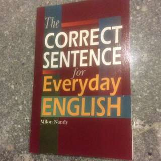 The Correct Sentence for Everyday English