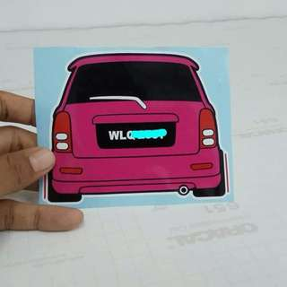 Perodua Car Custom Sticker 2018