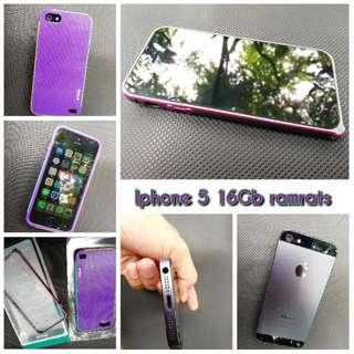 iphone 5 16gb, ex Singapore silent Camera bonus 2 case langka